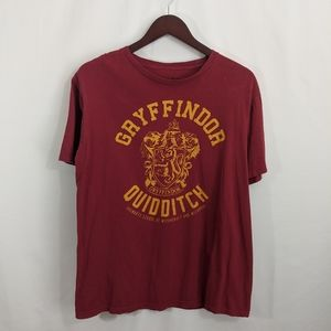 Harry Potter gryffindor Quidditch shirt large